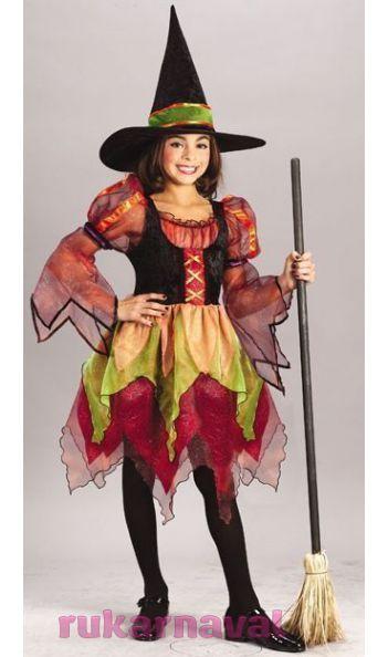 Разноцветный костюм ведьмы детский - купить по цене 2710 руб. в интернет-магазине Рукарнавал