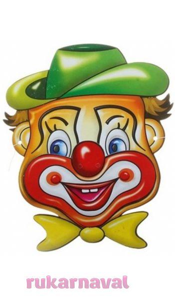 Маска клоуна сделать своими руками 1143